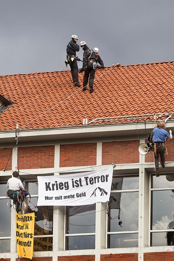 Aktion gegen die Bundeswehr